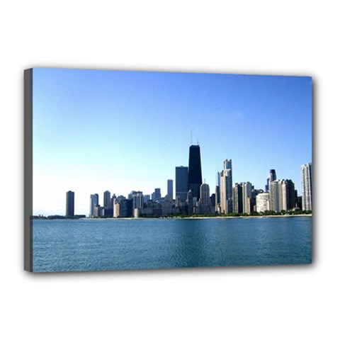 Chicago Skyline Canvas 18  X 12  (framed) by canvasngiftshop