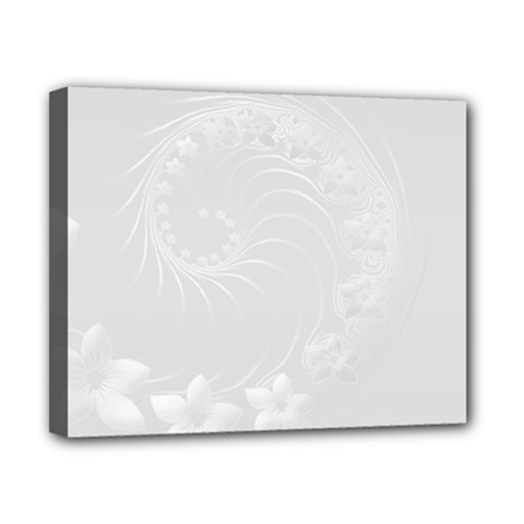 Light Gray Abstract Flowers Canvas 10  X 8  (framed) by BestCustomGiftsForYou