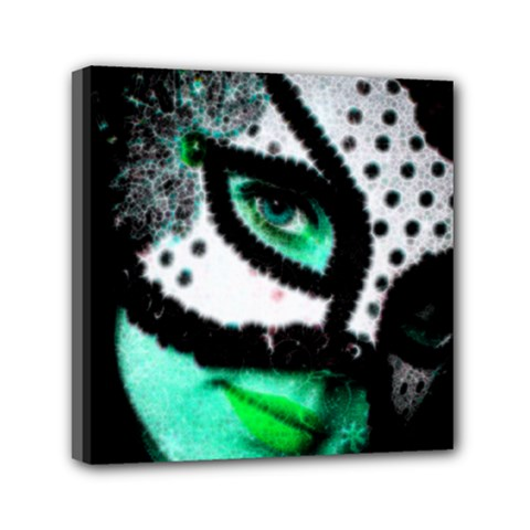 Masked Mini Canvas 6  X 6  (framed) by dray6389