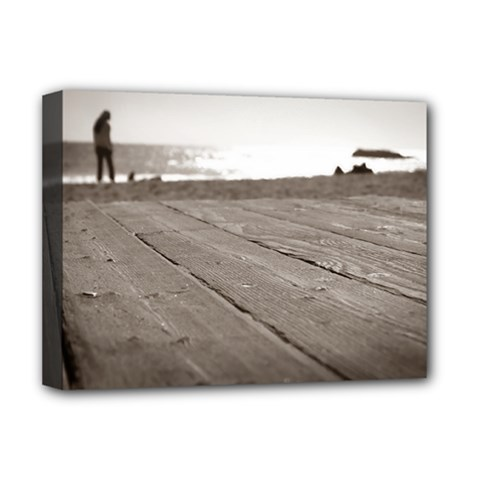 Laguna Beach Walk Deluxe Canvas 16  X 12  (framed)  by hlehnerer