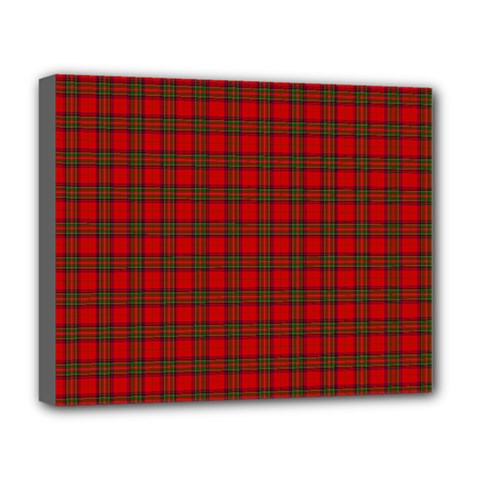 The Clan Steward Tartan Deluxe Canvas 20  X 16  (framed) by BestCustomGiftsForYou