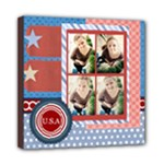 USA 4- july - Mini Canvas 8  x 8  (Stretched)