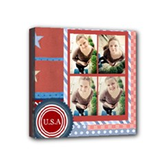 USA 4- july - Mini Canvas 4  x 4  (Stretched)
