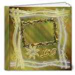 Floral elegance Deluxe 8x8 book - 8x8 Deluxe Photo Book (20 pages)