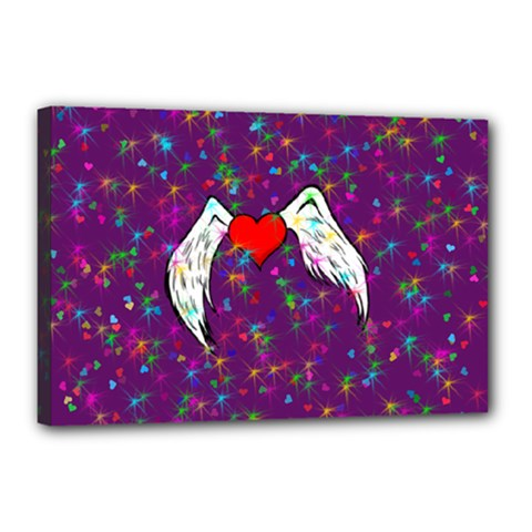 Your Heart Has Wings So Fly   Updated Canvas 18  X 12  (framed) by KurisutsuresRandoms