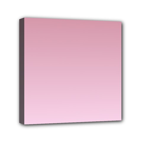 Puce To Pink Lace Gradient Mini Canvas 6  X 6  (framed) by BestCustomGiftsForYou