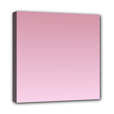 Puce To Pink Lace Gradient Mini Canvas 8  X 8  (framed)