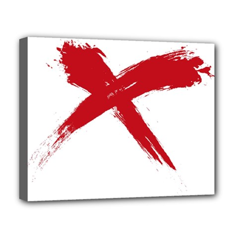 Red X Deluxe Canvas 20  X 16  (framed) by magann