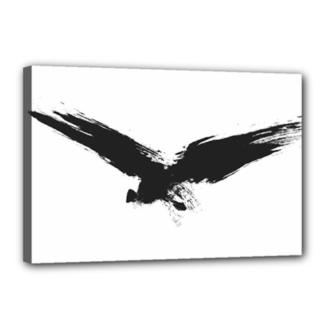 Grunge Bird Canvas 18  X 12  (framed) by magann