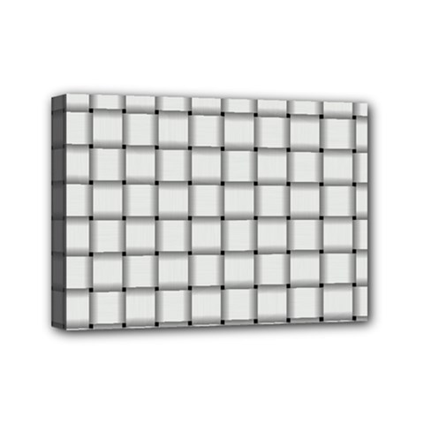 White Weave Mini Canvas 7  X 5  (framed) by BestCustomGiftsForYou