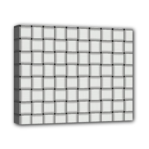 White Weave Canvas 10  X 8  (framed) by BestCustomGiftsForYou