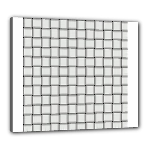 White Weave Canvas 24  X 20  (framed) by BestCustomGiftsForYou