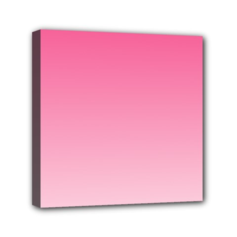 French Rose To Piggy Pink Gradient Mini Canvas 6  X 6  (framed)