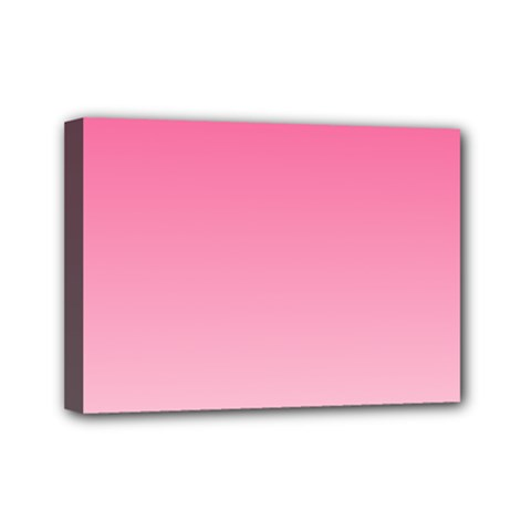 French Rose To Piggy Pink Gradient Mini Canvas 7  X 5  (framed) by BestCustomGiftsForYou