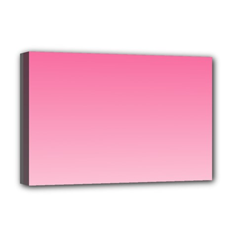 French Rose To Piggy Pink Gradient Deluxe Canvas 18  X 12  (framed) by BestCustomGiftsForYou