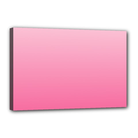 Piggy Pink To French Rose Gradient Canvas 18  X 12  (framed)