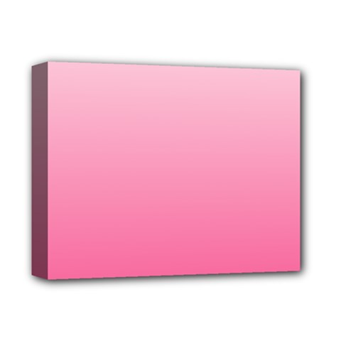 Piggy Pink To French Rose Gradient Deluxe Canvas 14  X 11  (framed) by BestCustomGiftsForYou