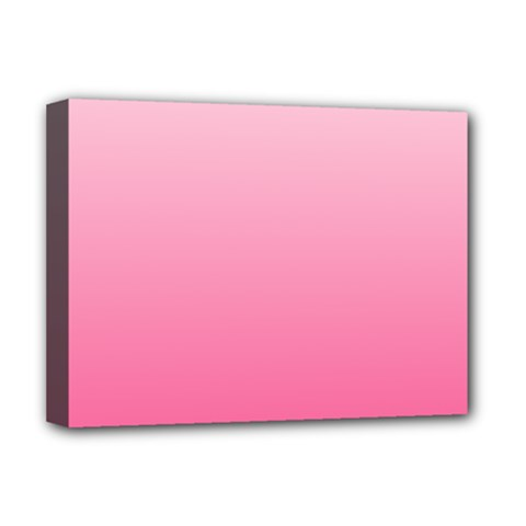 Piggy Pink To French Rose Gradient Deluxe Canvas 16  X 12  (framed)