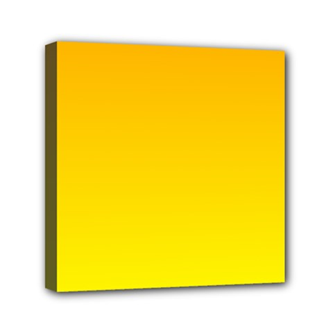 Chrome Yellow To Yellow Gradient Mini Canvas 6  X 6  (framed) by BestCustomGiftsForYou