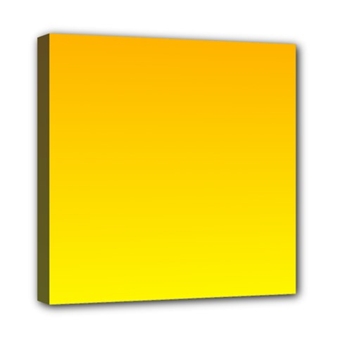 Chrome Yellow To Yellow Gradient Mini Canvas 8  X 8  (framed)