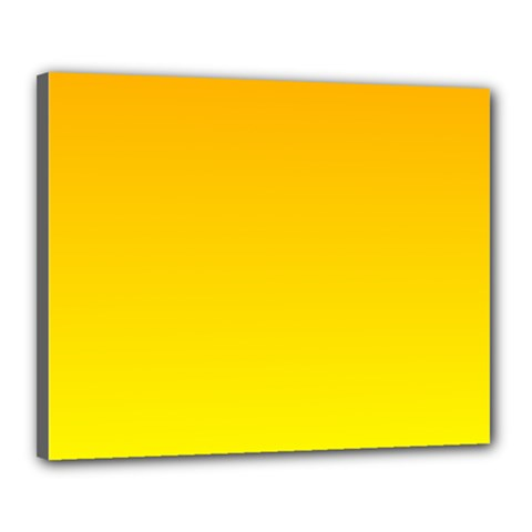 Chrome Yellow To Yellow Gradient Canvas 20  X 16  (framed)