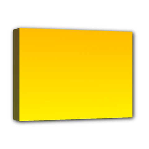 Chrome Yellow To Yellow Gradient Deluxe Canvas 16  X 12  (framed)