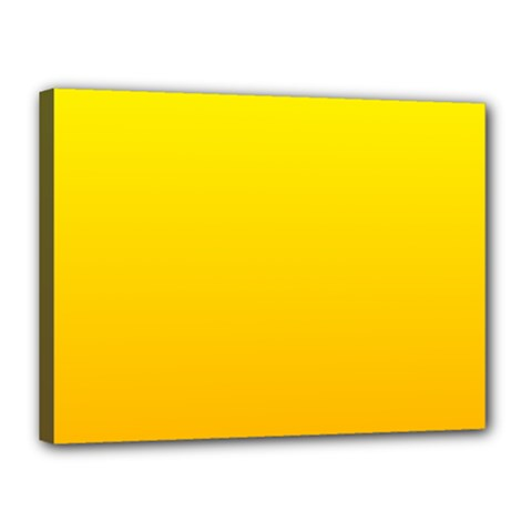 Yellow To Chrome Yellow Gradient Canvas 16  X 12  (framed) by BestCustomGiftsForYou