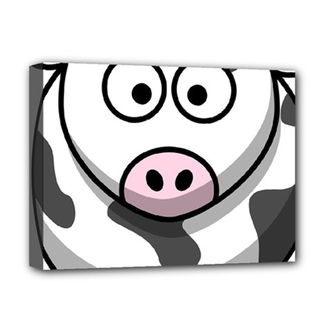 Cow Deluxe Canvas 16  X 12  (framed)
