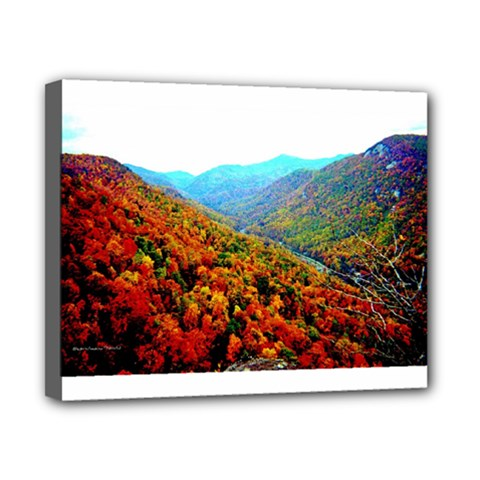 Through The Mountains Canvas 10  X 8  (framed) by Majesticmountain