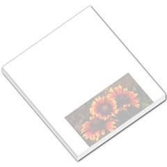 Yellow Orange Flowers Small Memo Pad by pictureperfectphotography