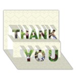 THANK U CARD - THANK YOU 3D Greeting Card (7x5)