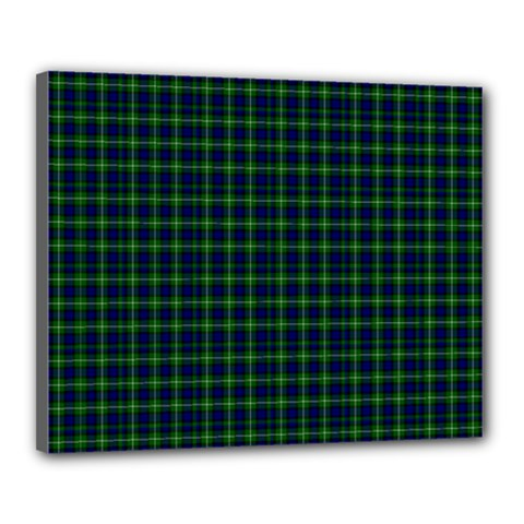 Lamont Tartan Canvas 20  X 16  (framed)