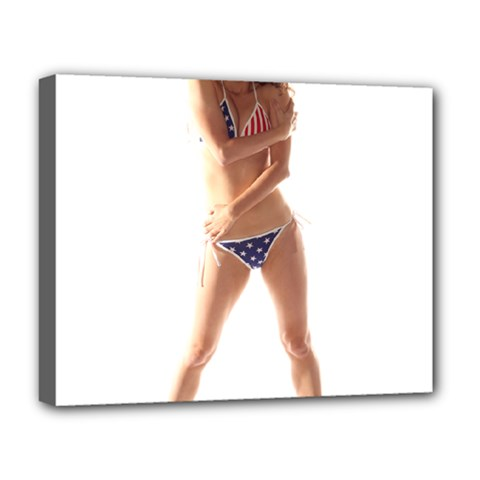 Usa Girl Deluxe Canvas 20  X 16  (framed) by hlehnerer