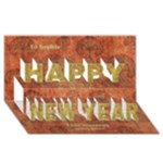 Rustic 2015 New Year 3D card - Happy New Year 3D Greeting Card (8x4)