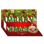 My Christmas  2 3D Card - Merry Xmas 3D Greeting Card (8x4)