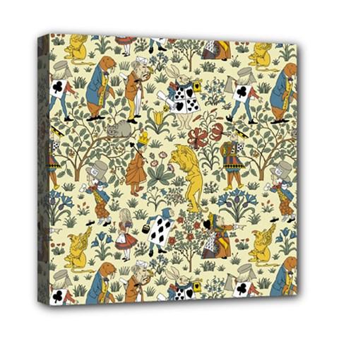 Alice In Wonderland Mini Canvas 8  x 8  (Framed) by EndlessVintage