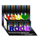 You Rock Card 2013 - You Rock 3D Greeting Card (7x5)