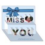 zrilly - Miss You 3D Greeting Card (7x5)