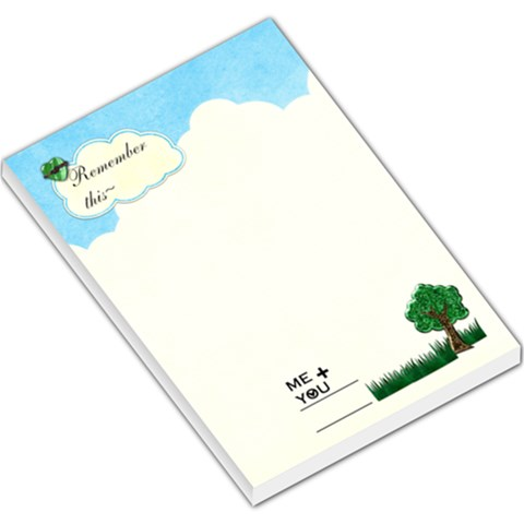 Bright Memo Pad By Shelly   Large Memo Pads   Hgsc6zkjf3dc   Www Artscow Com