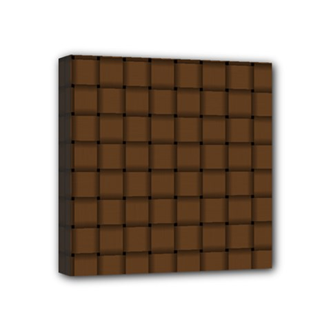 Brown Nose Weave Mini Canvas 4  X 4  (framed) by BestCustomGiftsForYou