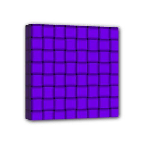 Violet Weave Mini Canvas 4  X 4  (framed) by BestCustomGiftsForYou