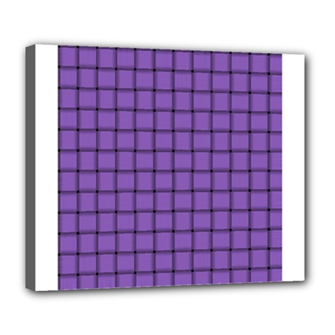 Amethyst Weave Deluxe Canvas 24  X 20  (framed) by BestCustomGiftsForYou