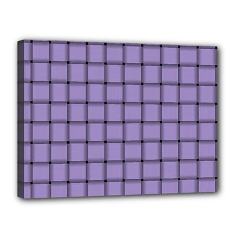 Light Pastel Purple Weave Canvas 16  X 12  (framed) by BestCustomGiftsForYou