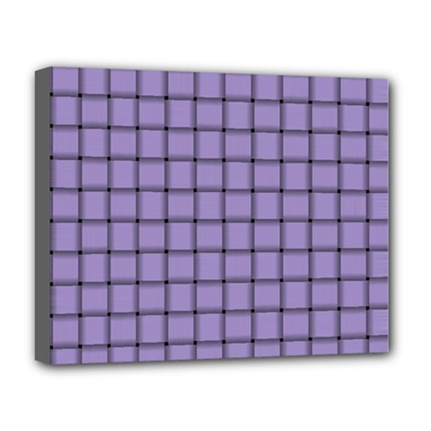 Light Pastel Purple Weave Deluxe Canvas 20  X 16  (framed) by BestCustomGiftsForYou