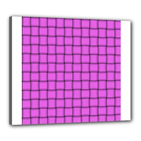 Ultra Pink Weave  Canvas 24  X 20  (framed) by BestCustomGiftsForYou