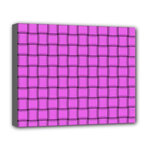 Ultra Pink Weave  Deluxe Canvas 20  X 16  (framed) by BestCustomGiftsForYou