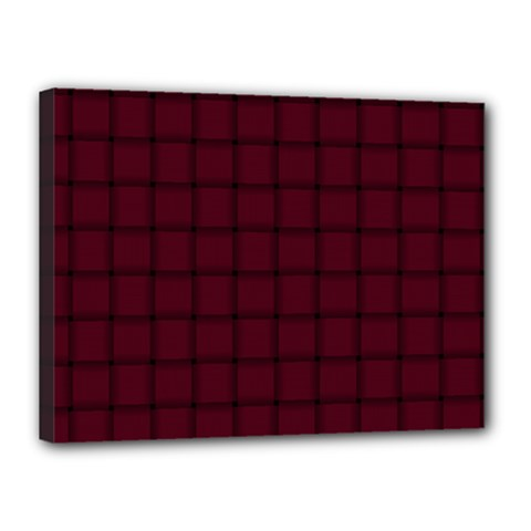 Dark Scarlet Weave Canvas 16  X 12  (framed) by BestCustomGiftsForYou