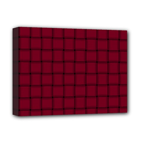 Burgundy Weave Deluxe Canvas 16  X 12  (framed)  by BestCustomGiftsForYou