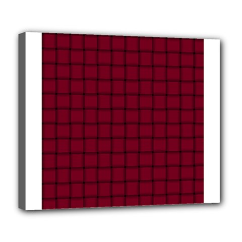 Burgundy Weave Deluxe Canvas 24  X 20  (framed) by BestCustomGiftsForYou
