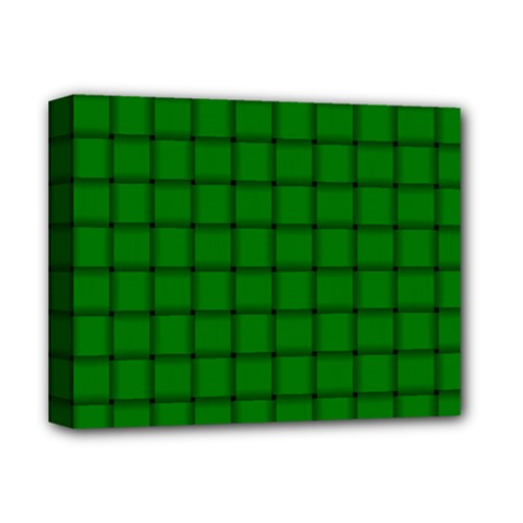 Green Weave Deluxe Canvas 14  X 11  (framed) by BestCustomGiftsForYou